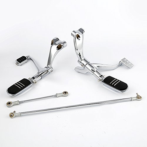 XMT-MOTO Forward Controls W/ Pegs Linkage For Harley Sportster 883 1200 XL Custom 2004-2013 (Sportster Forward Controls)
