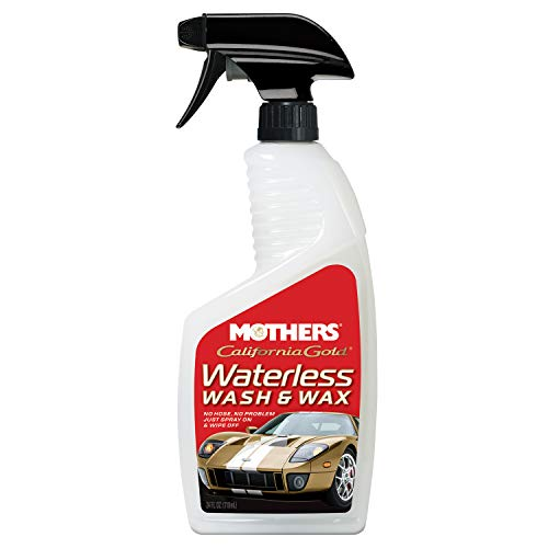 Mothers 05644 California Gold Waterless Wash and Wax, 24 fl. oz. (Best Waterless Car Cleaner)