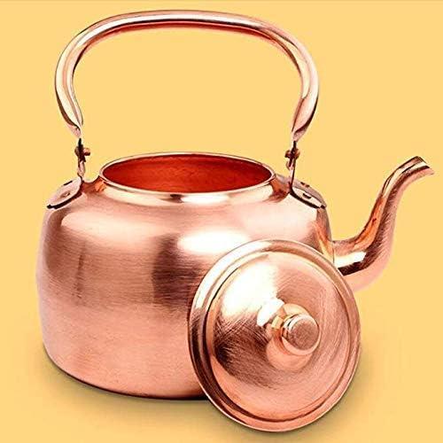 Grande capacité 5 L bouilloire à gaz de cuivre en cuivre sur le dessus et soupe bouilloire à fond plat Xping