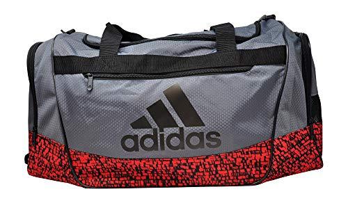 adidas Defender III Medium Duffel, Onix/Scarlet/Dapple/Black, One Size