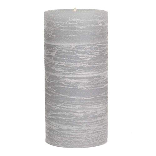 Nordic Candle - Rustic Pillar Candle - 3x6 Inch Dove Gray - Unscented