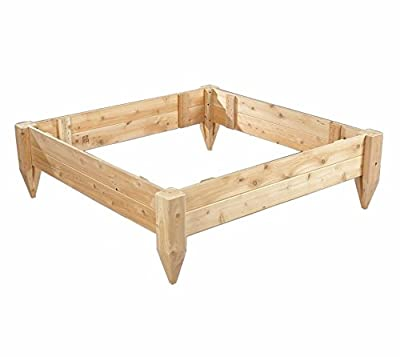 Rustic Cedar PLANTER, 4' X 4' RAISED BED