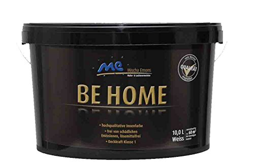 BE HOME Innenfarbe, 10L, weiß, stumpfmatt, Wandfarbe
