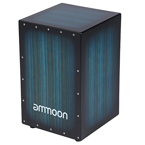 Drum Box - ammoon Wooden Box Drum Cajon Hand Drum Persussion Instrument with Stings Rubber Feet 30 31 48cm