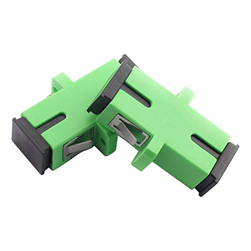Maxmoral 2-Pack SC-SC Simplex Optical Fiber Coupler Single Mode Flange Coupling Connector SC/APC Adapter for Digital Communication Green
