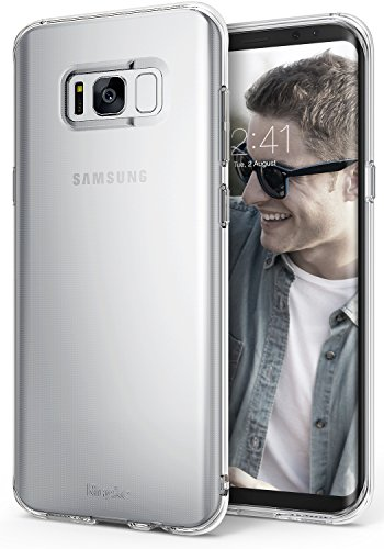 Ringke AIR for Samsung Galaxy S8 2017 1 Lightweight protection thin as air yet strong to protect from daily use scratches. Secure your phone with protection without any unnecessary hassle or bulk. Supports Qi Wireless Charging without the hassle of having to remove the case for Samsung Galaxy S8. Flexible & strong TPU offers durability and defense for minimal daily bumps and scratches. Dual active coverage includes inner corner cushions to protect the phone Enhance and reveal the natural shape with Ringke's highest engineering technology for precise tailored cutouts is designed for impeccable perfect fit.