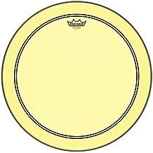 "Remo P3-1318-CT-YE Powerstroke P3 Colortone Yellow Bass Drumhead, 18"""