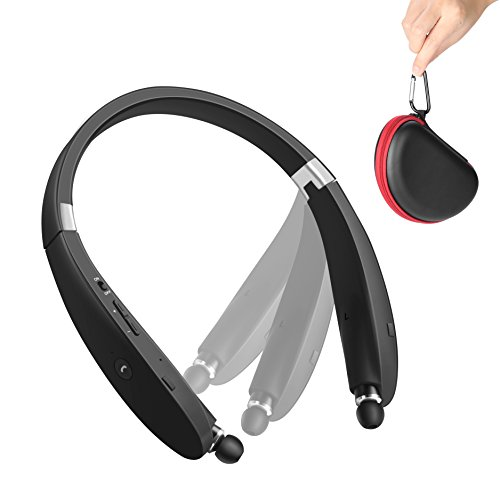 save 67 bluetooth headset sdicl wireless stereo headphones neckband with foldable and. Black Bedroom Furniture Sets. Home Design Ideas
