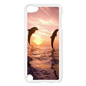 Qxhu Dolphin Hard Plastic Cover Case for Ipod Touch5