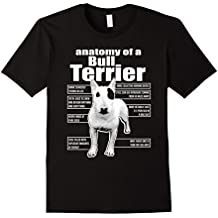 ANATOMY OF A BULL TERRIER T-SHIRTS    FUNNY BULL TERRIER TEE