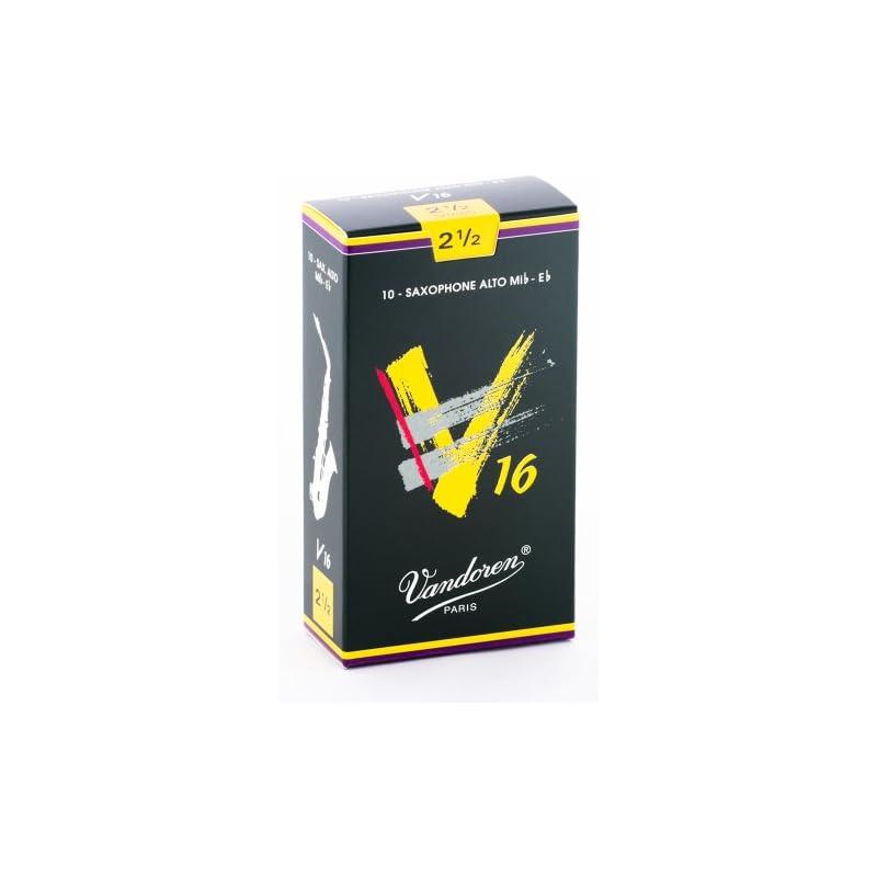 Vandoren SR7025 Alto Sax V16 Reeds Strength 2.5; Box of 10