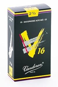 Vandoren V16 Alto Saxophone Reeds - Box of 10 - Strength 2.5