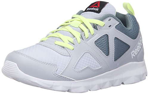 Reebok Women's Dashhex TR L MT Cross-Trainer Shoe, Cloud Grey/Teal Dust/Lemon Zest/Black/White, 8.5 M US For Sale
