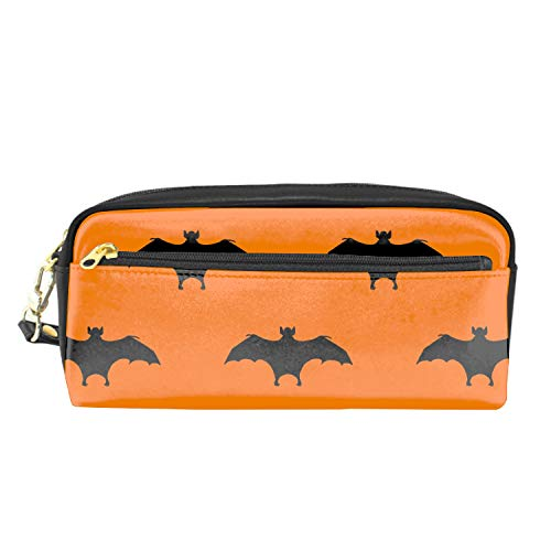 Pencil Case - High Capacity Pencil Pouch Stationery Organizer Multifunction Cosmetic Makeup Bag Perfect Holder for Pencils and Pens (Halloween Bat) -