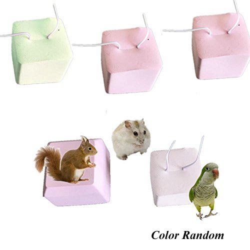Comidox Pet Hamster Mice Rat Rabbit Mineral Teeth Grinding Stone Bones Snacks Chew Toy 5pcs