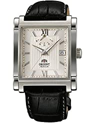 ORIENT Classic Automatic Power Reserve Champagne Dial Rectangular Dress Watch FDAH004Y