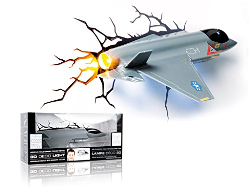 3D Fighter Jet Night Light