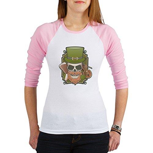 Truly Teague Jr. Raglan St Patricks Irish Skull - Pink/White, ()