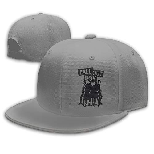 HUATEA Fall Out Boys Unisex Baseball Caps Snapback Adujustable Gray