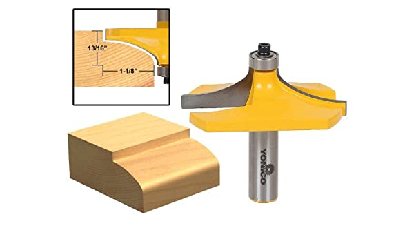 Yonico 13141 miniatura borde de la mesa Router Bit con tamaño ...