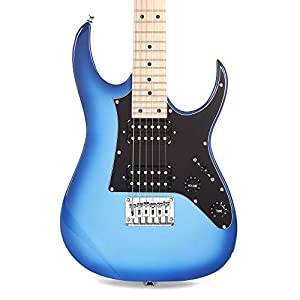 Ibanez GRGM 6 String Solid-Body Electric Guitar, Right, Blue Burst (GRGM21MBLT) 41eLECgufUL