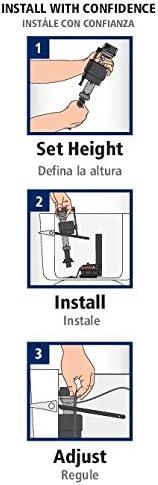 Fluidmaster 400CR Universal Toilet Fill Flapper Repair Kit for 2-Inch Flush Valves, Easy Install, Multicolor