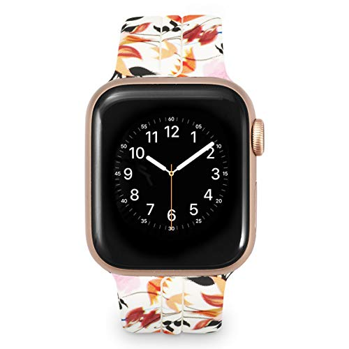 Allbingo Cute Bands Women Men Floral Replacement Strap Wristband Small Large Compatible with Apple Watch Band 38mm 40mm 42mm 44mm Iwatch Series 4 Series 3 Series 2 Series 1