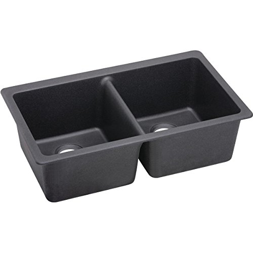 Elkay Quartz Luxe ELXU3322CH0 Charcoal Equal Double Bowl Undermount Sink