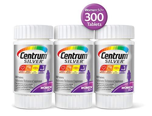 (Centrum Silver Women (Triple Pack of 100-300 Tablets) Multivitamin/Multimineral Supplement Tablet, Vitamin D3, Age 50+)