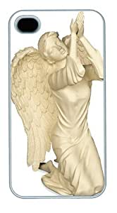 Angelic Presence Garden Angel Ornament PC Case Cover for iPhone 4 and iPhone 4s White by icecream design