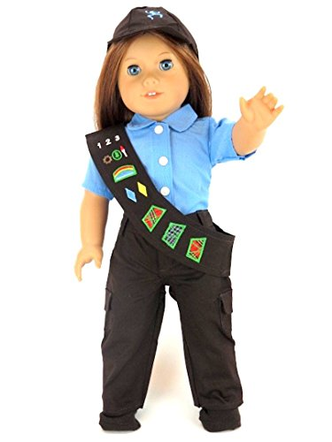 "18"" Girl Scouts Brownie Pant Outfit Costume Set for Dolls. - Fits 18"" American Girl Dolls, Gotz, Our Generation Madame Alexander and Others."
