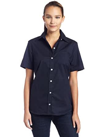 Dickies womens short sleeve stretch poplin shirt at amazon for Womens stretch button down shirt