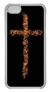 iPhone 5C Cases & Covers -Cross On Fire Custom PC Hard Case Cover for iPhone 5C ¨CTransparent