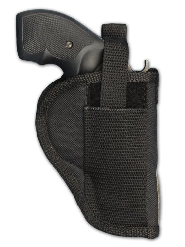 Barsony Holsters and Belts Charter Arms Rossi Ruger LCR S&W .22 .38 .357 Revolver Draw Outside The Waist Band, Black, Right Hand, Size 2
