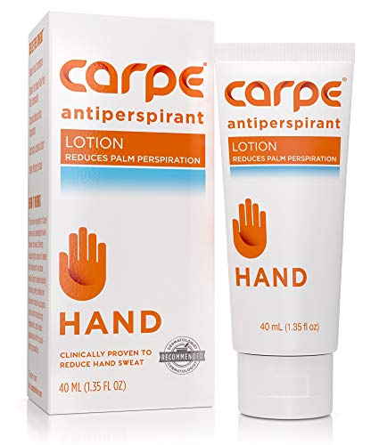 Carpe Antiperspirant Hand Lotion, A dermatologist-recommended, non-irritating, smooth lotion that helps stops hand sweat, Great for hyperhidrosis (Best Way To Prevent Underarm Sweat)