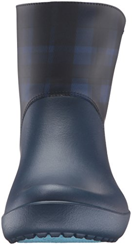 Crocs Women's Rainfloegrphcbt Rain Boot, Blue Blue (Navy)