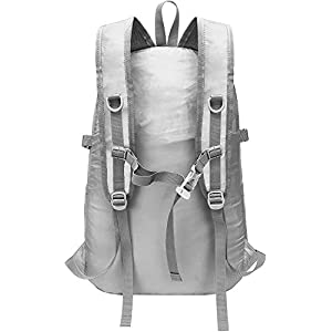 Backpack - Durable Packable Lightweight Backpacks for Travel Hiking - Daypack for Women Men (Light Grey)