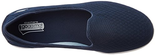 Sneaker Elated Go Step Schwarz Navy Gray Damen Slipper Skechers qFPwIP