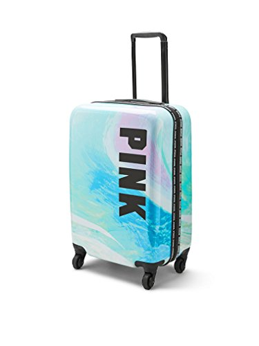 VICTORIA SECRET PINK HARD CASE wheelie rolling suitcase carry one luggage - TIE DYE - SIGNATURE - SOLD OUT TOTE