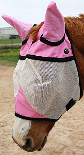 Equine Horse Fly Mask Summer Spring Airflow Mesh UV Mosquitoes 73219PK