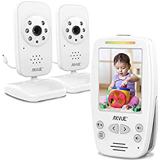 AXVUE Video Baby Monitor with Two Cameras and Comfort-Designed Screen, Model E662.