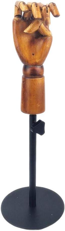 Flexible Realistische Schaufensterpuppe Handmodell zur Dekoration oder Schmuck-Display Bonarty Holz Modellhand