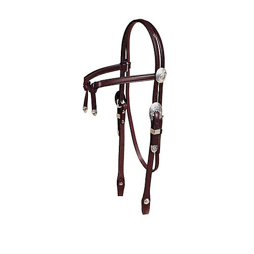 Tory Silver Knotted Browband Headstall Horse Dark ()