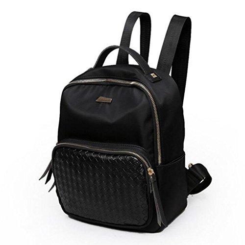 Y&F Frau Oxford Tuch Reiserucksack Rucksack Schultertaschen Handtasche schwarz