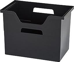 IRIS Large Desktop File Box, 4 Pack, Black