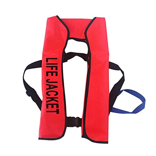 Manual Inflatable Life Jacket 150N Aid Sailing Boating Swimming Surfing Survival Vest Safety Preservers (Inflatable Safety Signs)