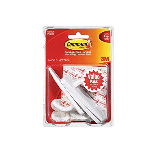 3M Value Pack Hooks 5 lb. (Pack of 18) by 3M