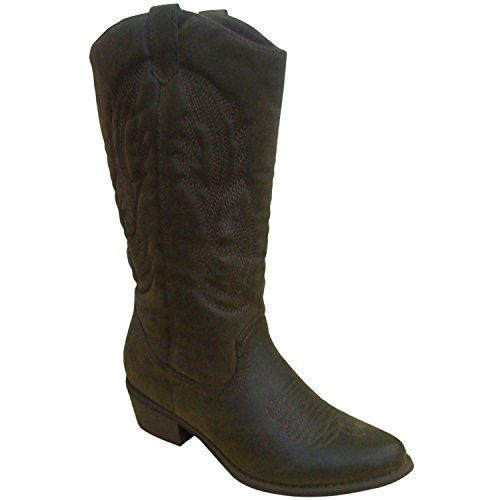 Pierre Dumas Women's Cowgirl-5 Cowgirl Boots Brown Suede 11