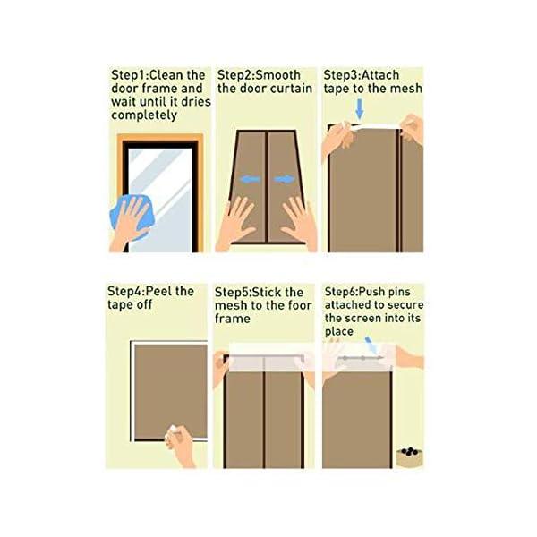 Zanzariera Magnetica per Porte, Ventilazione Anti-zanzara Muta Bianca Velcro Tenda Porta Adatto per Balcone Soggiorno… 5 spesavip