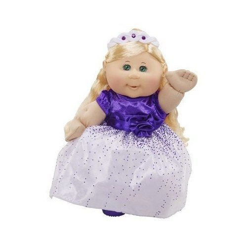 Cabbage Patch Kids Limited Edition Holiday Baby Doll, Blonde with Green Eyes, Purple Gown